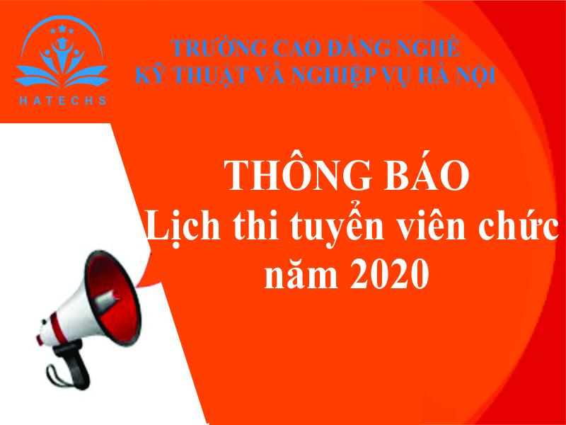 Thông báo lịch thi tuyển viên chức năm 2020